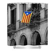 Barcelona - Estelada Shower Curtain