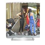 Barcelona Moms Shower Curtain