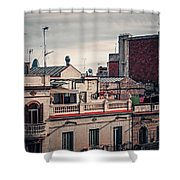Barcelona Roofscape Shower Curtain