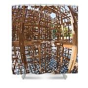 Barcelona Sculpture, Spain Shower Curtain