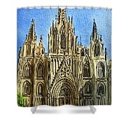 Barcelona Spain Shower Curtain