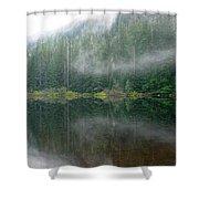 Barclay Lake, Reflected Shower Curtain