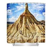 Bardenas Desert Last Man Standing - Vintage Version Shower Curtain