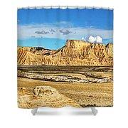 Bardenas Desert Panorama 3 Shower Curtain