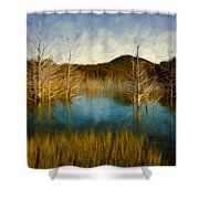 Bare Waters Shower Curtain
