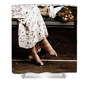 Barefoot And Tulips Shower Curtain