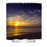 Barefoot Beach Preserve Sunset Shower Curtain