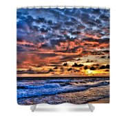Barefoot Beach Sunset Shower Curtain