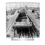Barge Construction Shower Curtain