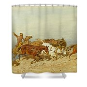 Barge Haulers Shower Curtain