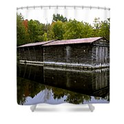 Barge House On The Erie Canal Shower Curtain