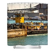 Barge Movement With The Morgan Shower Curtain