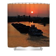 Barge On The Ohio. Shower Curtain