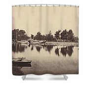 Barges At Oxford Shower Curtain