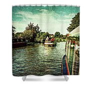 10946 Cruising On The Grand Union Canal Shower Curtain