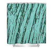 Bark Texture Turquoise Shower Curtain