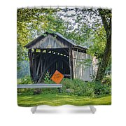 Barkhurst Covered Bridge  Shower Curtain
