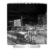 Barking Crab Boston Ma Black And White Shower Curtain
