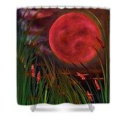Barley Spike Moon Shower Curtain