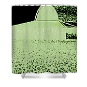 Barn Abstract Shower Curtain