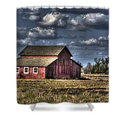 Barn After Storm Shower Curtain