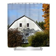 Barn And Basketball Court Shower Curtain