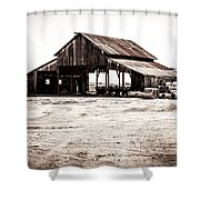 Barn And Irrigation Pipes Shower Curtain