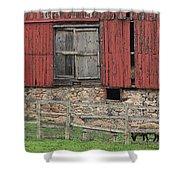 Barn And Sheep Shower Curtain