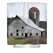 Barn And Silo Shower Curtain