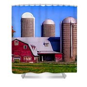 Barn And Silos Hawaiian Chapel Effect Shower Curtain