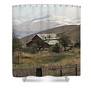 Barn And Snow Shower Curtain