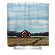 Barn And Split Rail Fence Shower Curtain