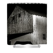 Barn At Night Shower Curtain