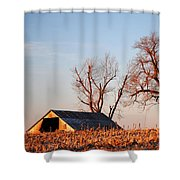 Barn At Sunrise Shower Curtain