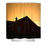 Barn At Sunset Shower Curtain