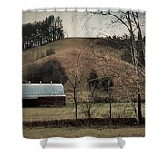 Barn At The Bottom Of The Hill Shower Curtain
