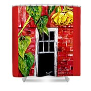 Barn Blloms Shower Curtain