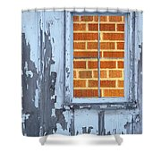 Barn Brick Window Shower Curtain