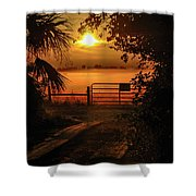 Barn Bridge Shower Curtain