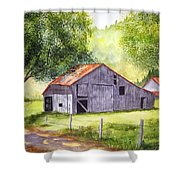 Barn By The Road Shower Curtain