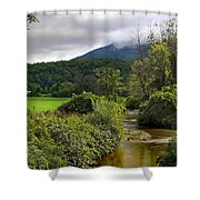 Barn By The Stream In Vermont Shower Curtain