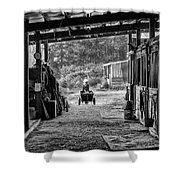 Barn Chores Shower Curtain