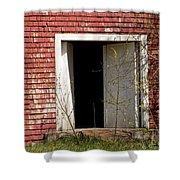 Barn Door And Cedar Shower Curtain