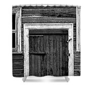 Barn Door And Windows Bw Shower Curtain