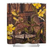 Barn Door Hinge Shower Curtain
