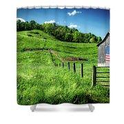 Barn Flag Shower Curtain