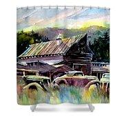 Barn Fresh Cabriolets Shower Curtain