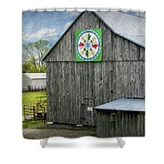 Barn Hex Sign Shower Curtain