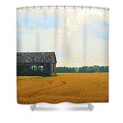Barn In A Field  Shower Curtain
