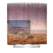 Barn In Early Light  Shower Curtain